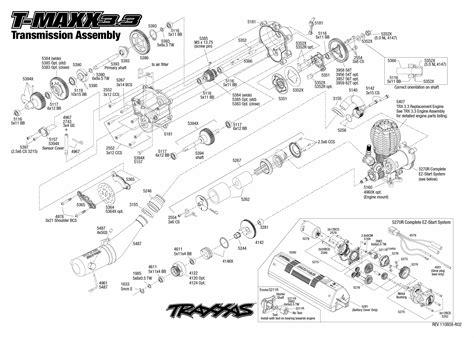 Traxxa T Maxx Steering Diagram by Exploded View Traxxas Nitro T Maxx 1 10 Transmission