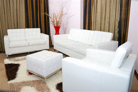 Sofa And Chair Set by White Leather Button Tufted Sofa Loveseat Chair Set