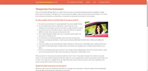 Temporary life insurance provides temporary coverage while you wait for approval during the underwriting process. Buy Temporary Car Insurance Online - Short Term Coverage   Mexican trip   Car insurance online ...