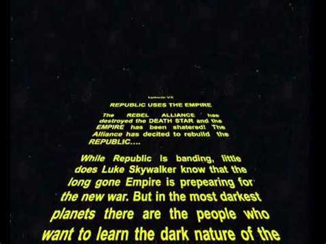 star wars crawl  power point youtube