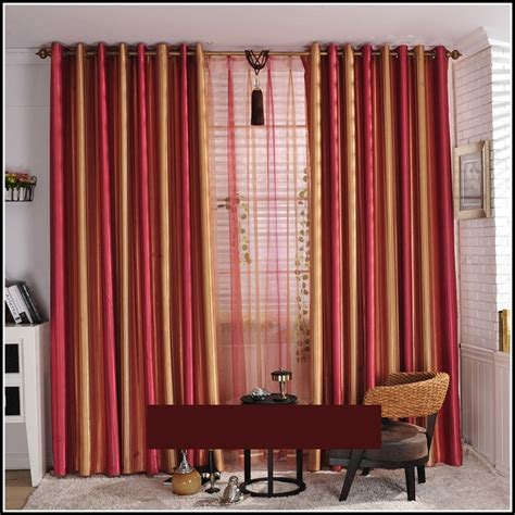 gold and striped curtains page home design