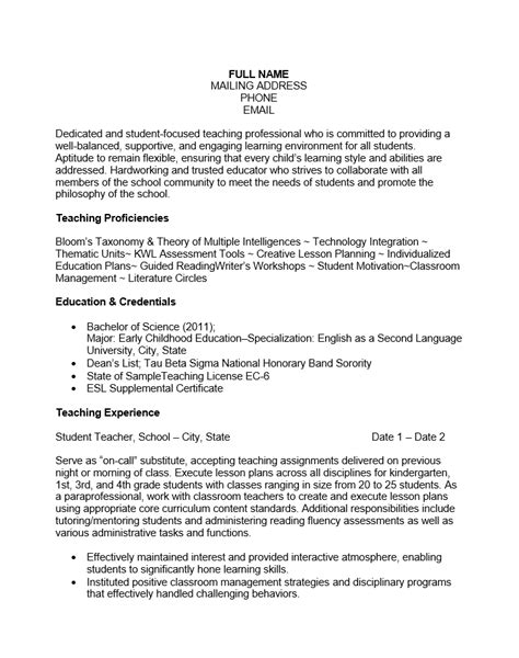 free experienced resume template sle ms word