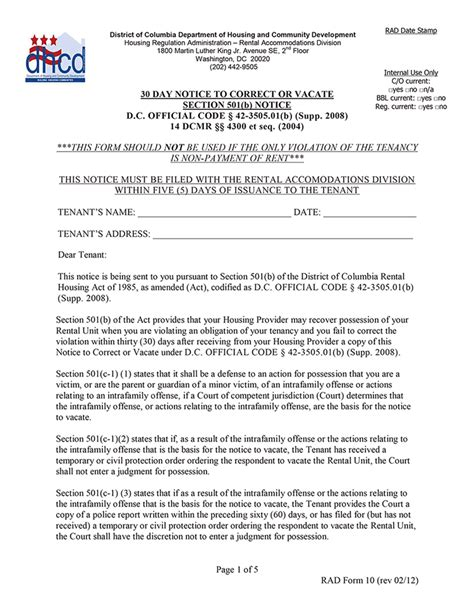 30 day notice of rent increase form 30 day eviction notice free printable documents