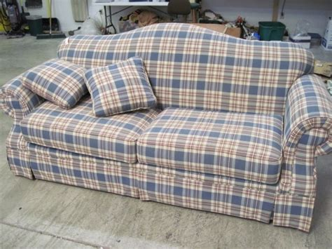 red plaid sofa broyhill broyhill roll arm light blue sofa plaid for the home