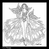 Coloring Adults Adult Blank Fairy Books Corset Pencil Prinses Leonora Kleurplaten Fantastic Printable Template Sheets Angel Shore Jim Coloriage Bron sketch template