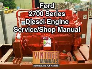 Ford 2700 Series Diesel Engine Shop Service Manual