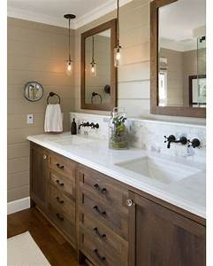 25 best ideas about dark wood bathroom on pinterest With kitchen cabinets lowes with black and white bathroom wall art