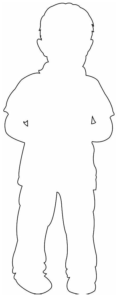 Boy Silhouette Silhouettes Outline Coloring Pages Svg