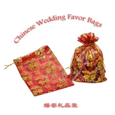 chinese wedding  party sheer favor bags wholesale