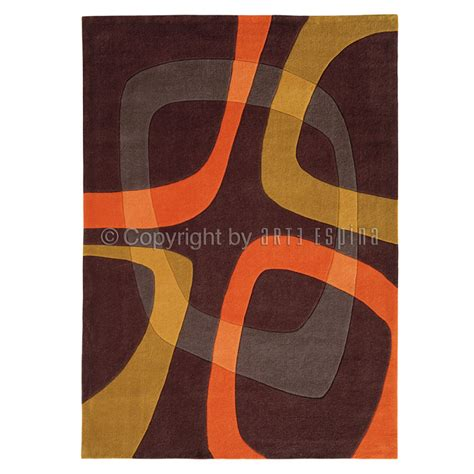 tapis showtime marron et orange arte espina