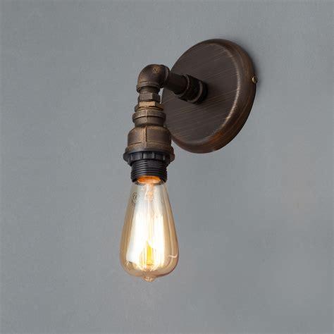 parel pipe bronze single wall light departments diy at b q