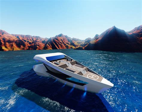 Boat Yacht Travel by Aerodynamic Travel Boats Concept Yacht