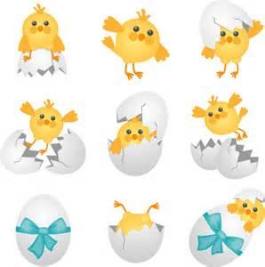 Chicken and Egg Cartoon Clip Art
