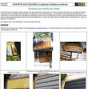 Fabriquer Chauffe Eau Solaire : construire son panneau solaire pearltrees ~ Melissatoandfro.com Idées de Décoration