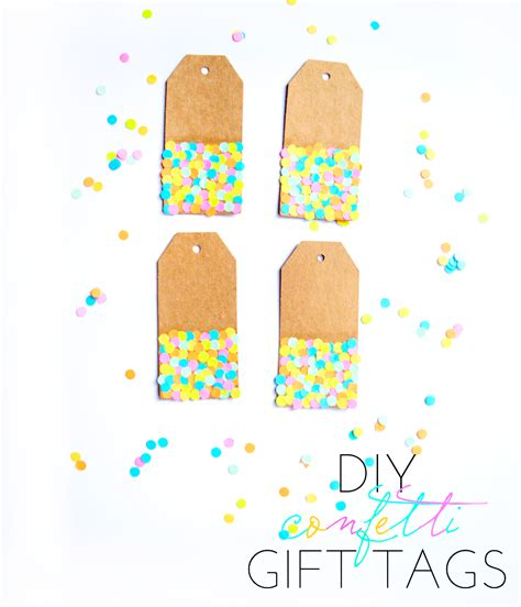 Diy Confetti Gift Tags Touch Teal