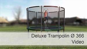 Trampolin Netz 366 : ampel 24 deluxe trampolin 366 cm mit netz youtube ~ Whattoseeinmadrid.com Haus und Dekorationen
