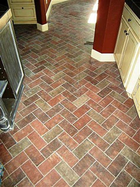 brick veneer  family room floor ceramic tile advice
