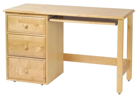 red light desk l maxtrix student desk w left drawers in natural 2415ln