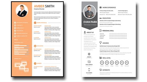 editable resume template cv format psd file free