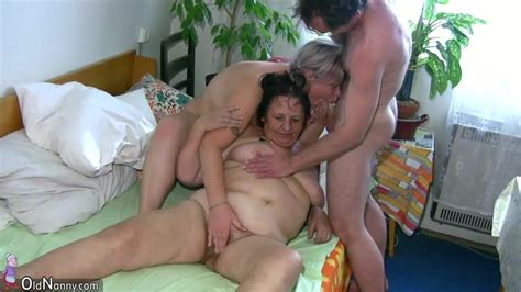 Oldnanny Chubby Mature And Chubby Milf Have Threesome It