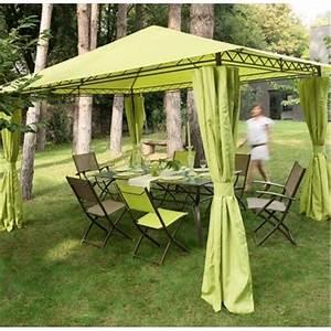 Toile Pour Tonnelle 3x3 : toile de toit tonnelle prado 4x3m anis tonnelle ~ Melissatoandfro.com Idées de Décoration