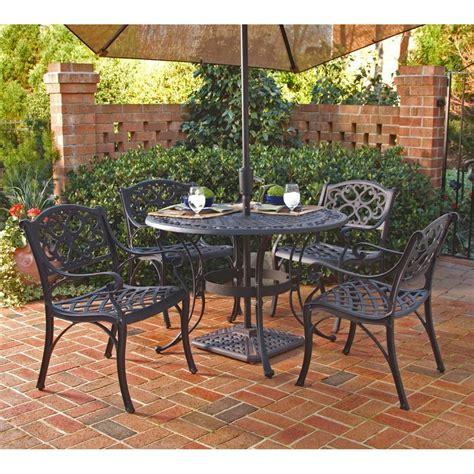 shop home styles biscayne  piece black aluminum patio