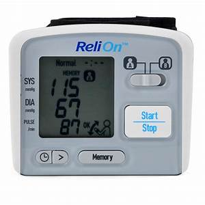 New Relion Bp300w Wrist Blood Pressure Monitor