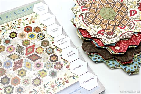 printable hexagon english paper piecing template
