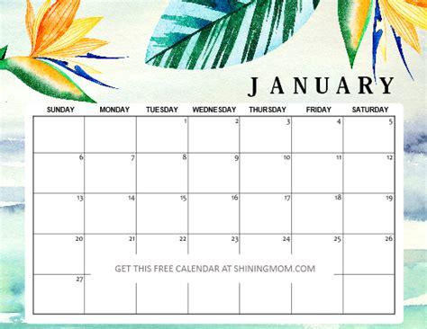 january  printable calendar planners fresh