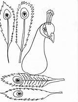 Peacock Coloring Feather Printablee Via sketch template