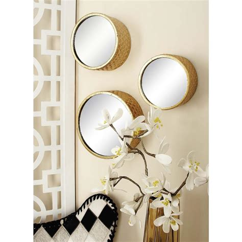 5 out of 5 stars. CosmoLiving by Cosmopolitan 7-Piece Round Gold Decorative ...