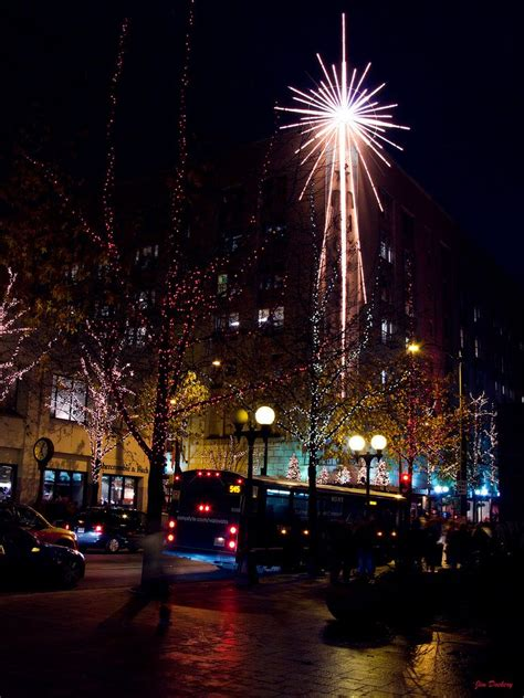 panoramio photo of seattle christmas lights