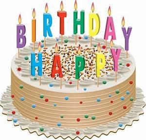 Vektor Geburtstagstorte mit brennenden Kerzen