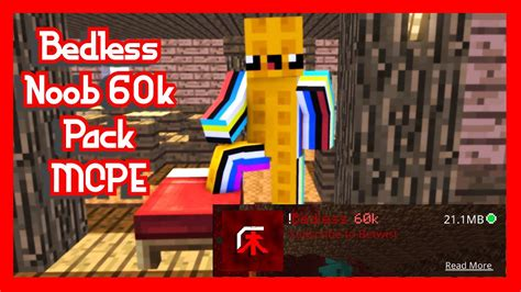 Bedless Noob 60k Texture Pack Mcpe Youtube