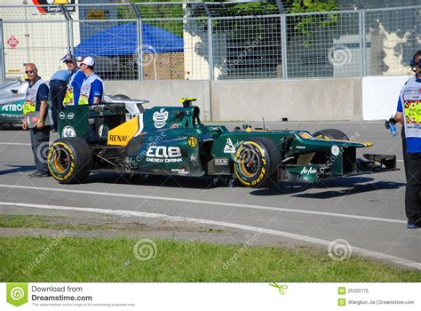 Caterham Racing Car In 2012 F1 Canadian Grand Prix
