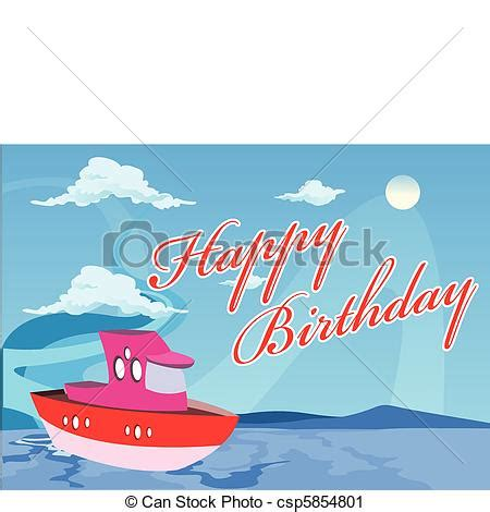 Happy Boat by Clip Vecteur De Vecteur Anniversaire Bateau