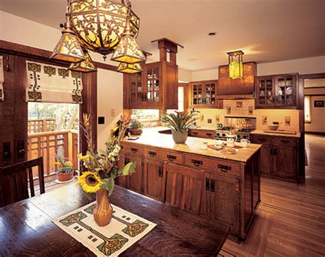 arts and crafts style kitchen cabinets today s arts crafts kitchens design for the arts 9043