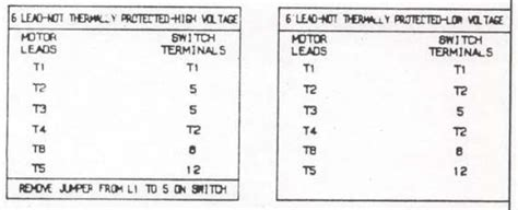 Lead Dual Voltage Single Phase Motor Needs Wired