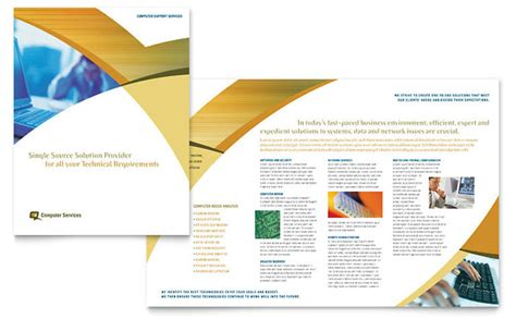 Brochure Design Services by Computer Services Consulting Brochure Template Design
