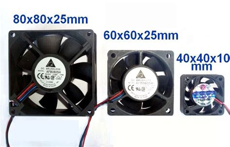 cpu fan pc brushless sleeve dc cooling fan 5v 12v 24v 40x40mm 60x60mm 80x80mm ebay