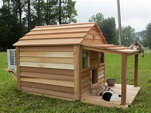 super cat cottage 36 x 37 interior ledges escape hatch With large dog house with ac