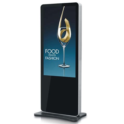 46 inch iphone shape standing lcd advertising display