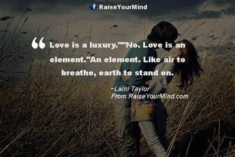 Love Is A Luxury.