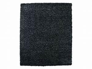 tapis 230x160 cm shaggy studio coloris noir vente de With conforama canapé convertible avec tapis 200x290