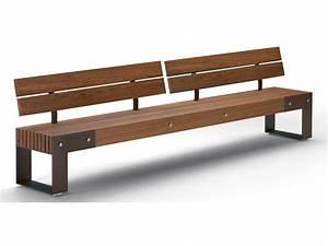 Wooden Bench IDEAS L - T by Metalco design Alfredo Tasca
