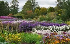 Flower Garden Borders by English Herbaceous Borders Waterperry Gardens Oxfordshi