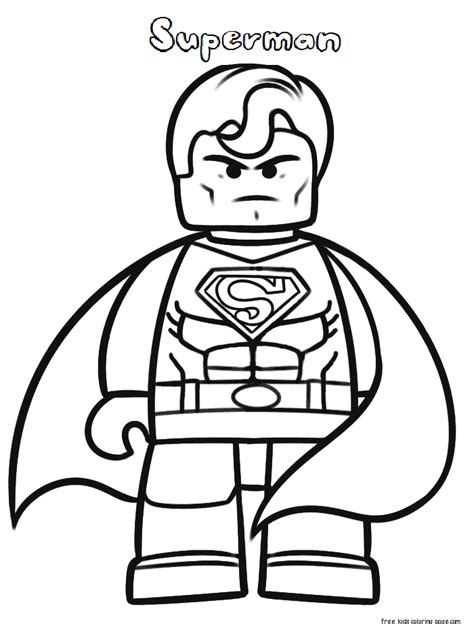 lego superman coloring pages  print  kidsfree
