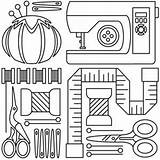 Sewing Machine Embroidery Tools Patterns Drawing Applique Sew Colouring Clip Paper Template Templates Urbanthreads Coloring Pattern Cards Collage Craft Adults sketch template