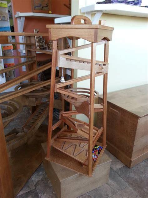 wooden marble run tower wood craft design  wooden