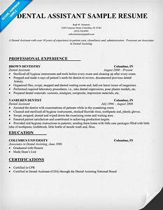 dental assistant resume dentist health resumecompanion With dental assistant resume